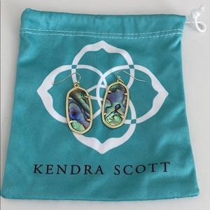 Kendra Scott Abalone Elles Golden Earrings